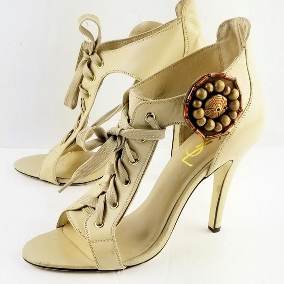 Yves Saint Laurent Shoes - Yves Saint Laurent Lace up Open Toes Sandals 41